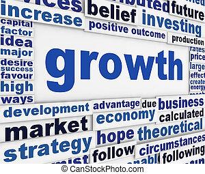 Diseño del póster de crecimiento
