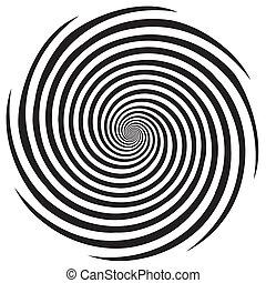 Diseño en espiral de hipnosis