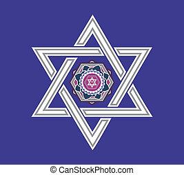 Diseño estelar del Vector Judío