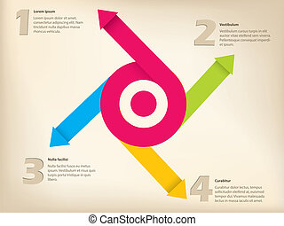 diseño, flecha, inforgraphic