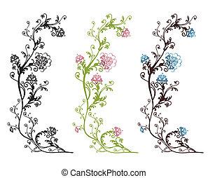 Diseño floral aislado