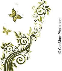 Diseño floral antiguo