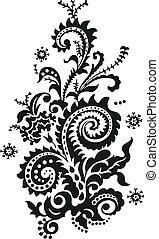Diseño floral de Paisley