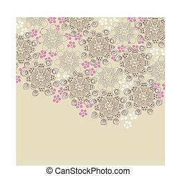 Diseño floral marrón y rosa