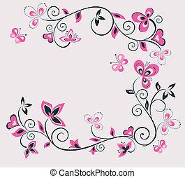 Diseño floral retro