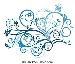 Diseño floral turquesa