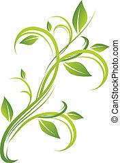 Diseño floral verde