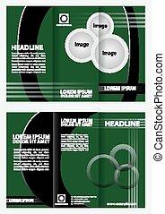 Diseño folleto tri pliegues