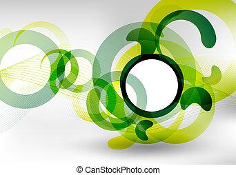 Diseño futurista verde