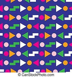 Diseño geométrico sin costura de 80