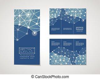 Diseño geométrico suave para el folleto tri-pliego