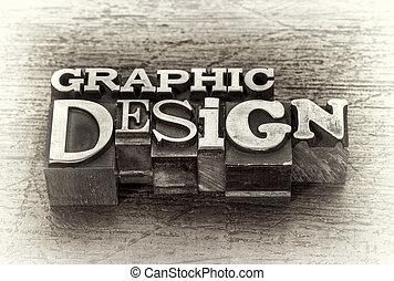 Diseño gráfico abstracto en el tipo de metal