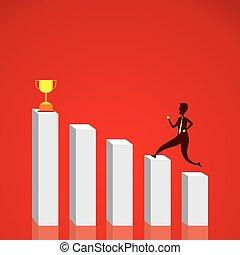 Diseño gráfico de éxito empresarial