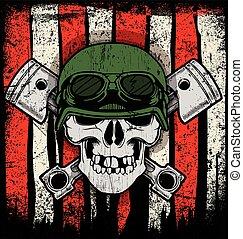 Diseño gráfico de la camisa Skull T