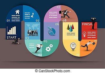 Diseño gráfico de negocios curvo creativo