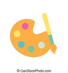 Diseño gráfico palette color pincel de pintura