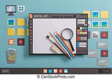 diseño, gráfico, software