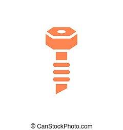 diseño, herramienta, tornillo, aislado, vector
