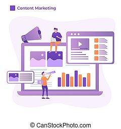 diseño, ilustración, estilo, mercadotecnia, plano, contenido