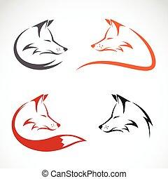 diseño, imagen, vector, zorro