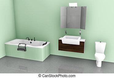 Diseño interior de baño