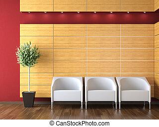 Diseño interior de la recepción moderna