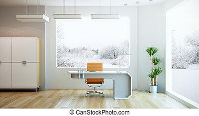 Diseño interior de oficina moderna