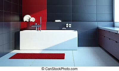 Diseño interior moderno de un baño