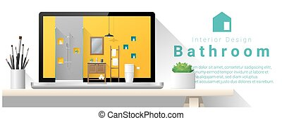 Diseño moderno de interiores de baño 3