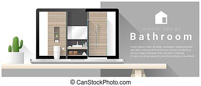 Diseño moderno de interiores de baño 4