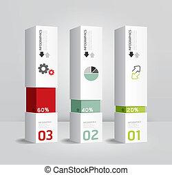 Diseño Moderno Moderno de Diseño Moderno Se puede usar para infográficos / Estandartes numerados / Líneas de corte horizontal / gráfico o sitio web vector de diseño