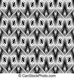Diseño monocromo sin costura patrón geométrico