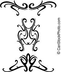 Diseño ornamental tribal