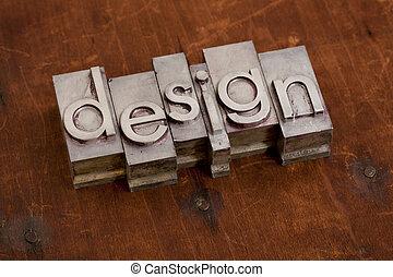 Diseño - palabra en tipo metal