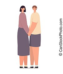 diseño, pareja hugging