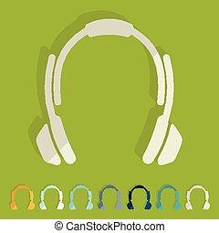Diseño plano: auriculares