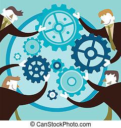 Diseño plano concepto de colaboración creativa
