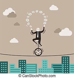 Diseño plano concepto de equilibrio