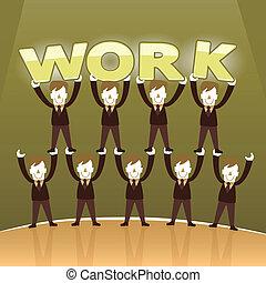 Diseño plano concepto de trabajo en equipo