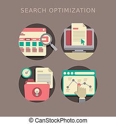 Diseño plano de optimización de búsqueda