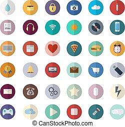 Diseño plano de vectores modernos iconos de ilustración conjunto de web SEO