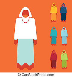 Diseño plano: musulmán
