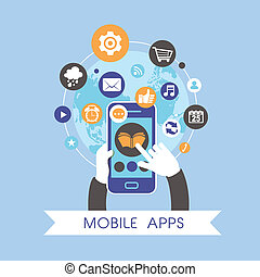 Diseño plano para aplicaciones móviles