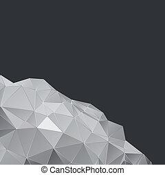 Diseño poligonal, fondo geométrico abstracto