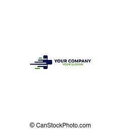 diseño, rápido, vector, médico, logotipo