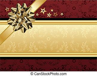 Diseño rojo y dorado