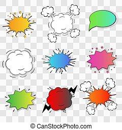 diseño, speach, su, transparente, burbuja, cómico, fondo.