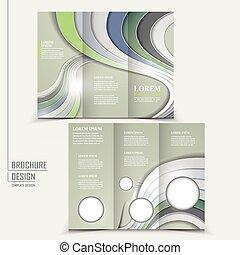 Diseño tecnológico moderno para un folleto tri-pliego