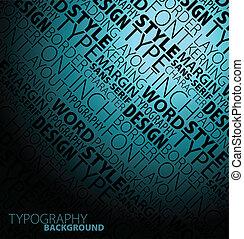 diseño, tipografía, plano de fondo