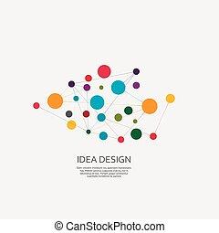 diseño, vector, conectar